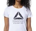 Reebok Delta Graphic Femmes Haut running blanc