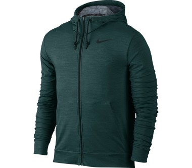 Nike - Dry fleece Full-Zip men's training hoodie (green)