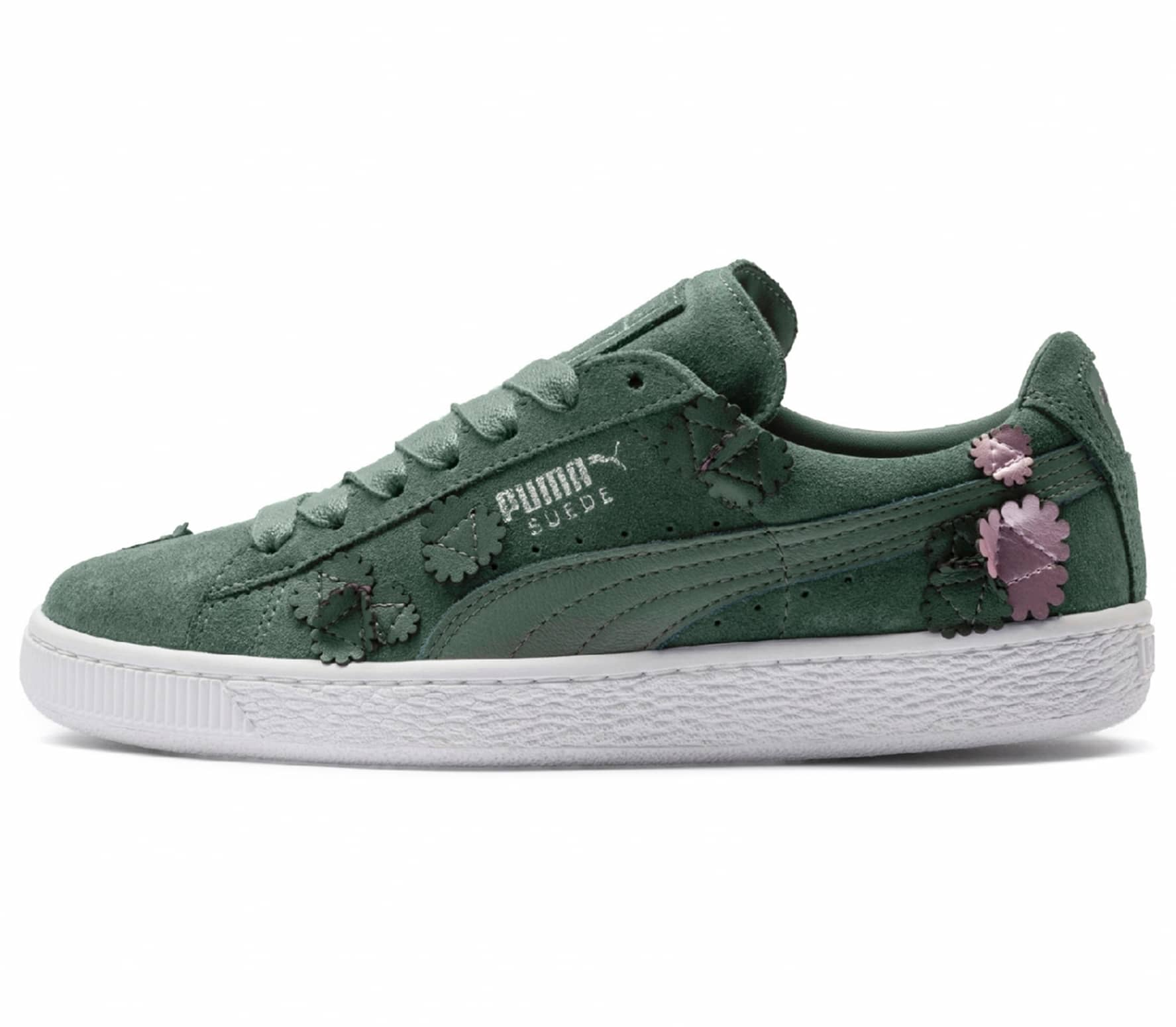 Puma Suede Classic Aut Bloom women s trainers (olive green) online ... 82c11ae5a