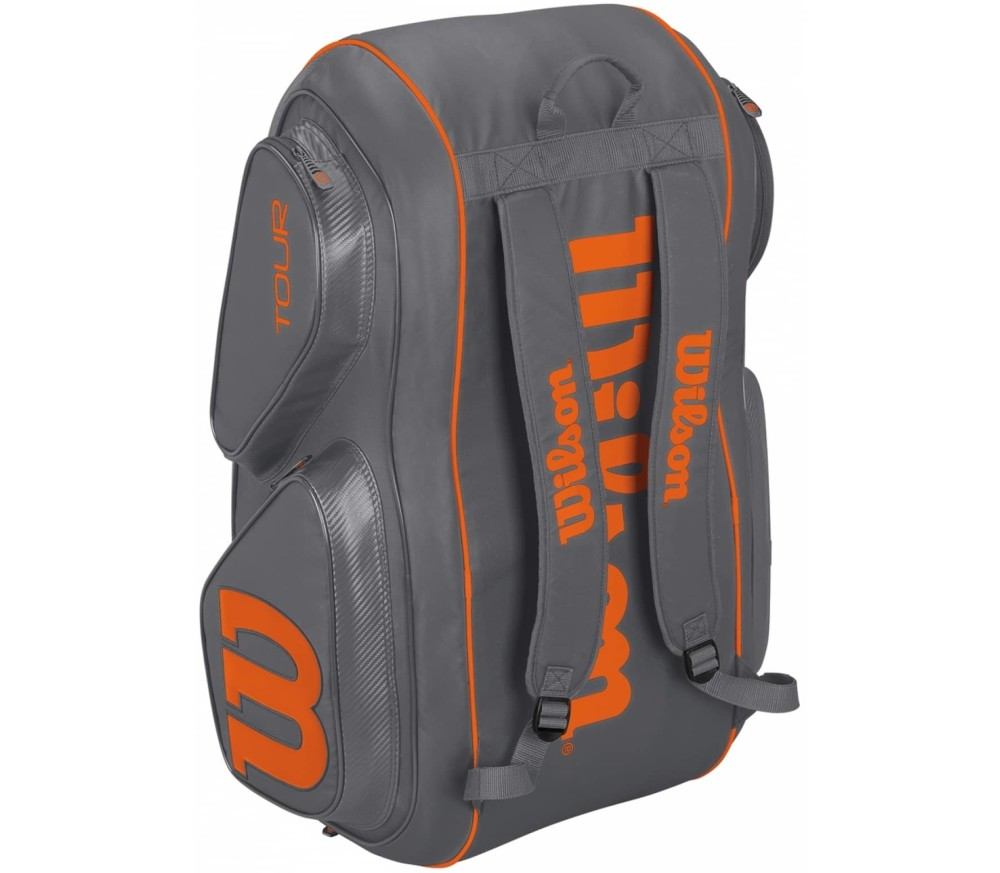Wilson - Tour V 15 Pack Gyor tennis bag (grey/orange)