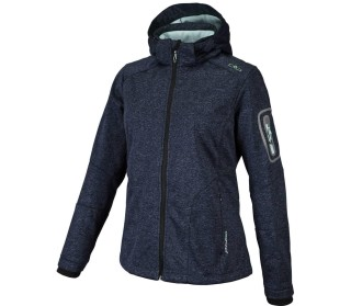 CMP Zip Hood Melange Women Softshell Jacket