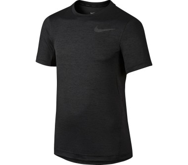 Nike Dri-Fit Jersey Junior Laufshirt Kinder schwarz