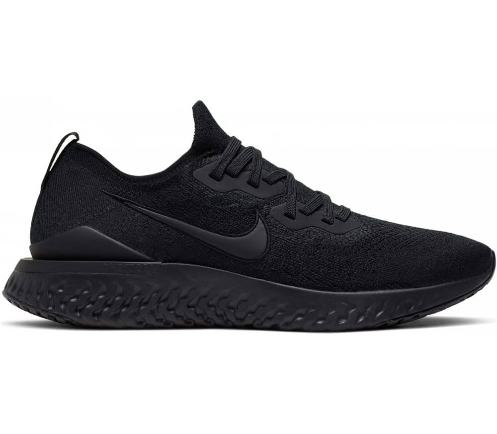 nike running epic react flyknit 2 trainers in black