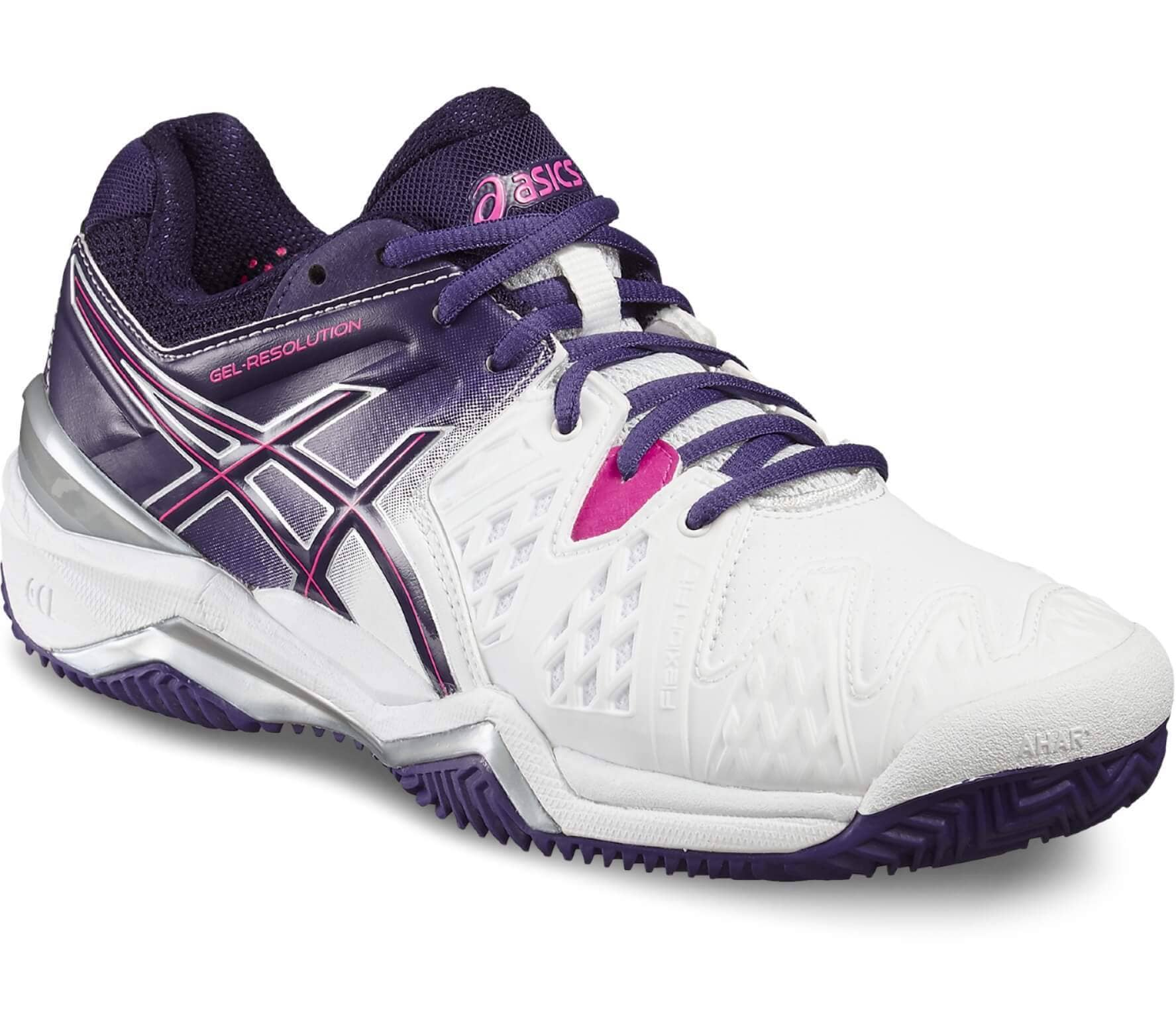 f0d523084 ASICS - Gel-Resolution 6 Clay women s tennis shoes (white pink ...