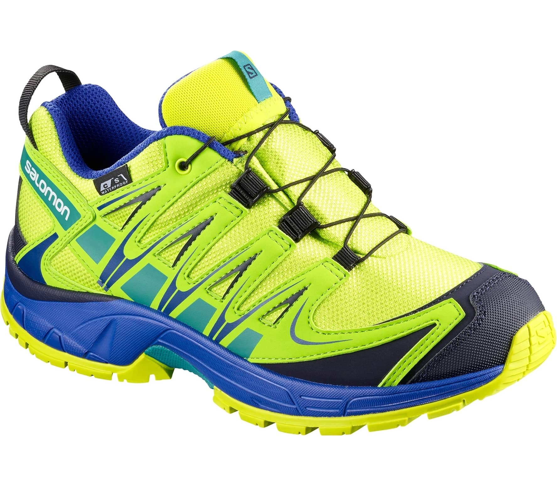 huge selection of bc049 b4b4b Salomon - XA Pro 3D CSWP Children running shoes (yellow blue)