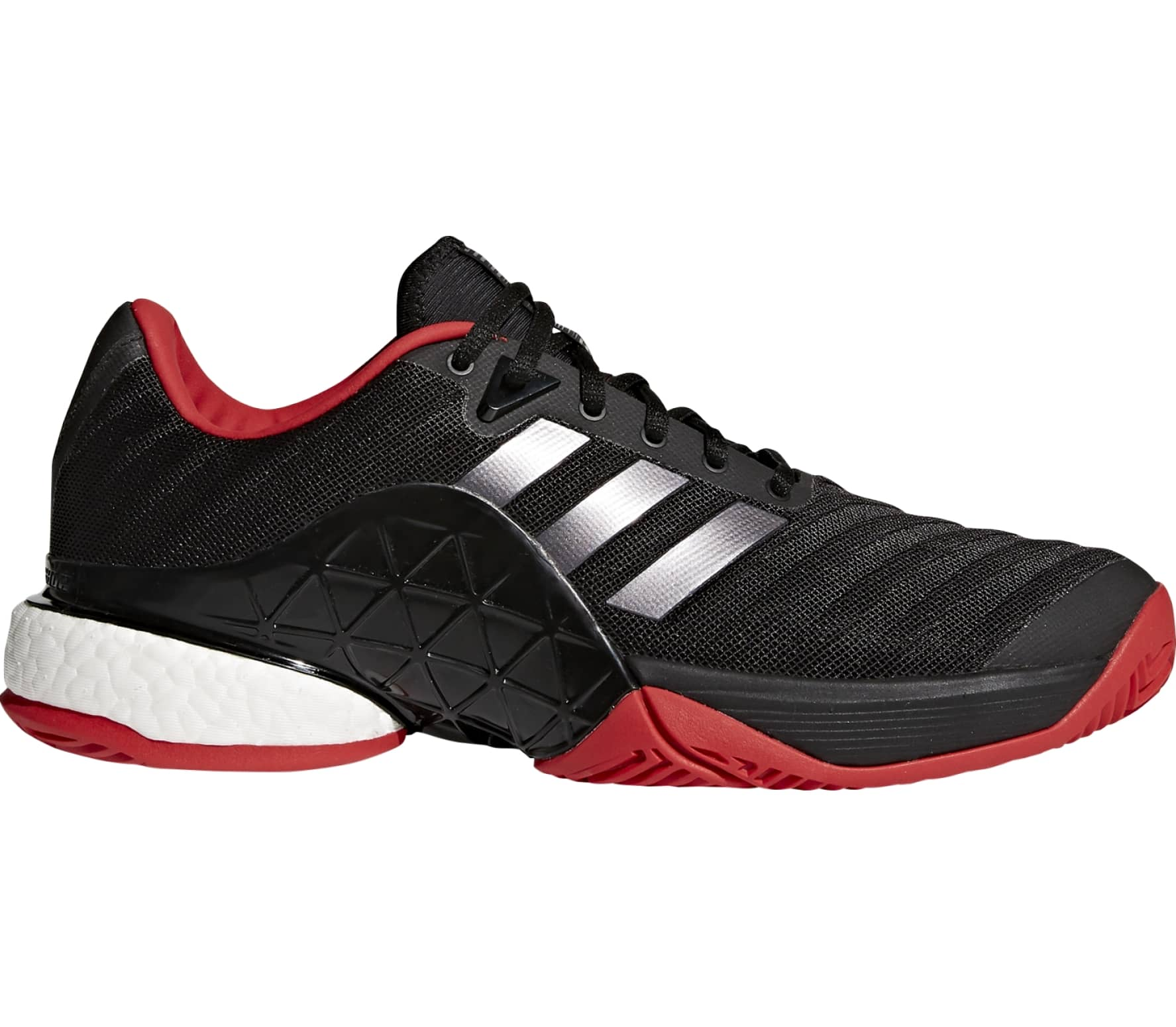 hot sale online be2ad c2d68 Adidas - Barricade 2018 Boost men s tennis shoes (black red)