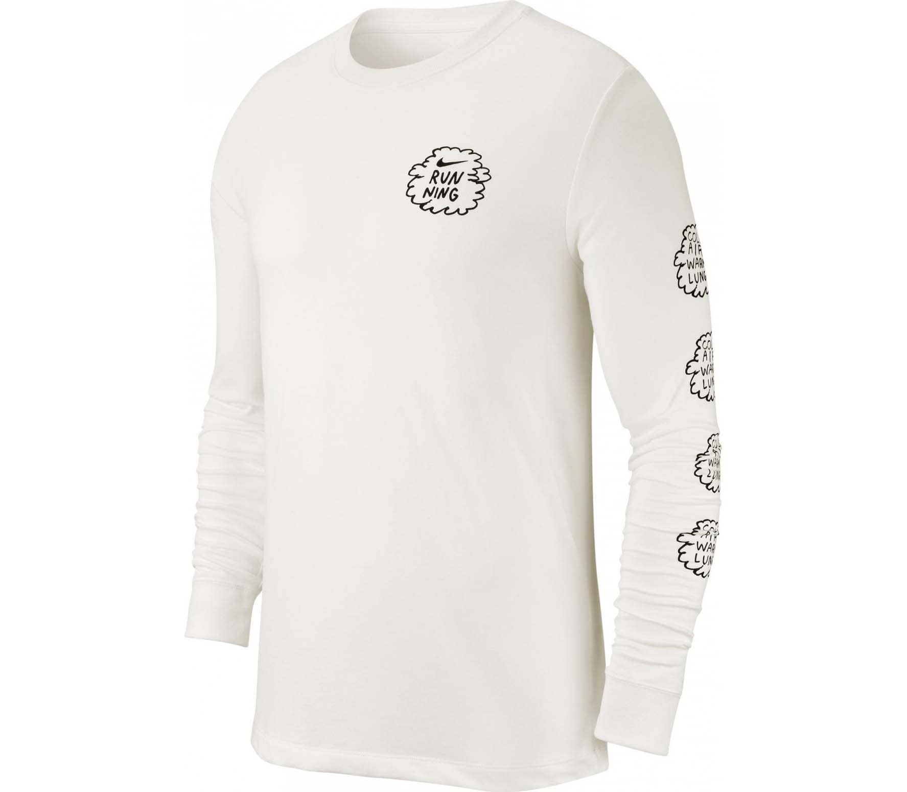 Nike Nathan Bell Dri FIT Men Running Long Sleeve white