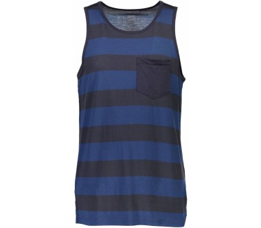 Mons Royale - Harvey Pocket Singlet Heren Merinotanktop (blauw)