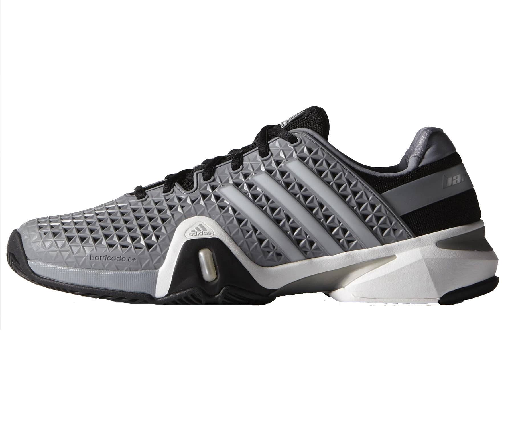 new style 9c574 f60ee Adidas - Adipower Barricade 8+ Synthetic men s tennis shoes (grey silver)