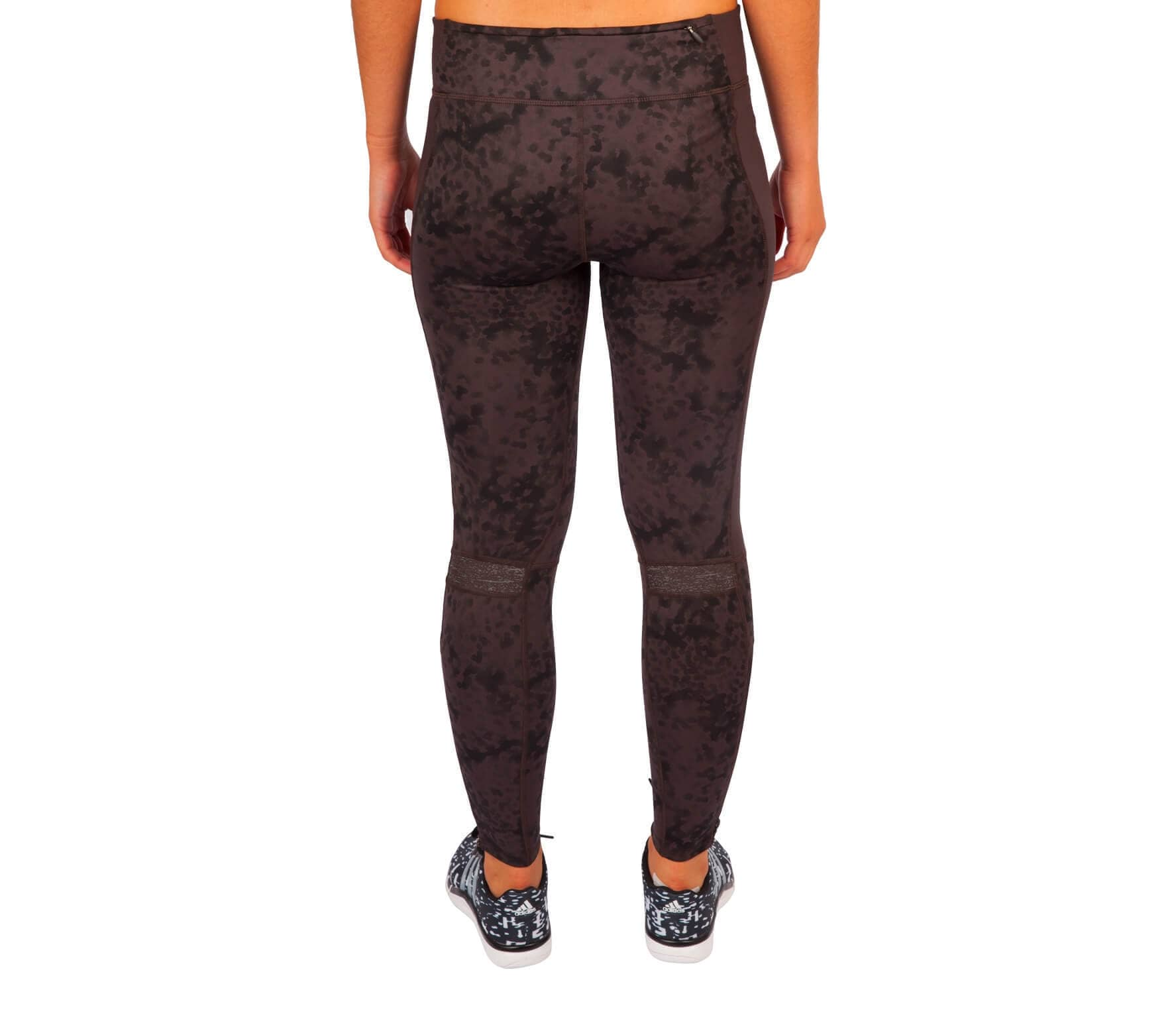 f4ee16e187a5f Adidas - Supernova Graphic Long Tight women s running shorts (dark  brown black)