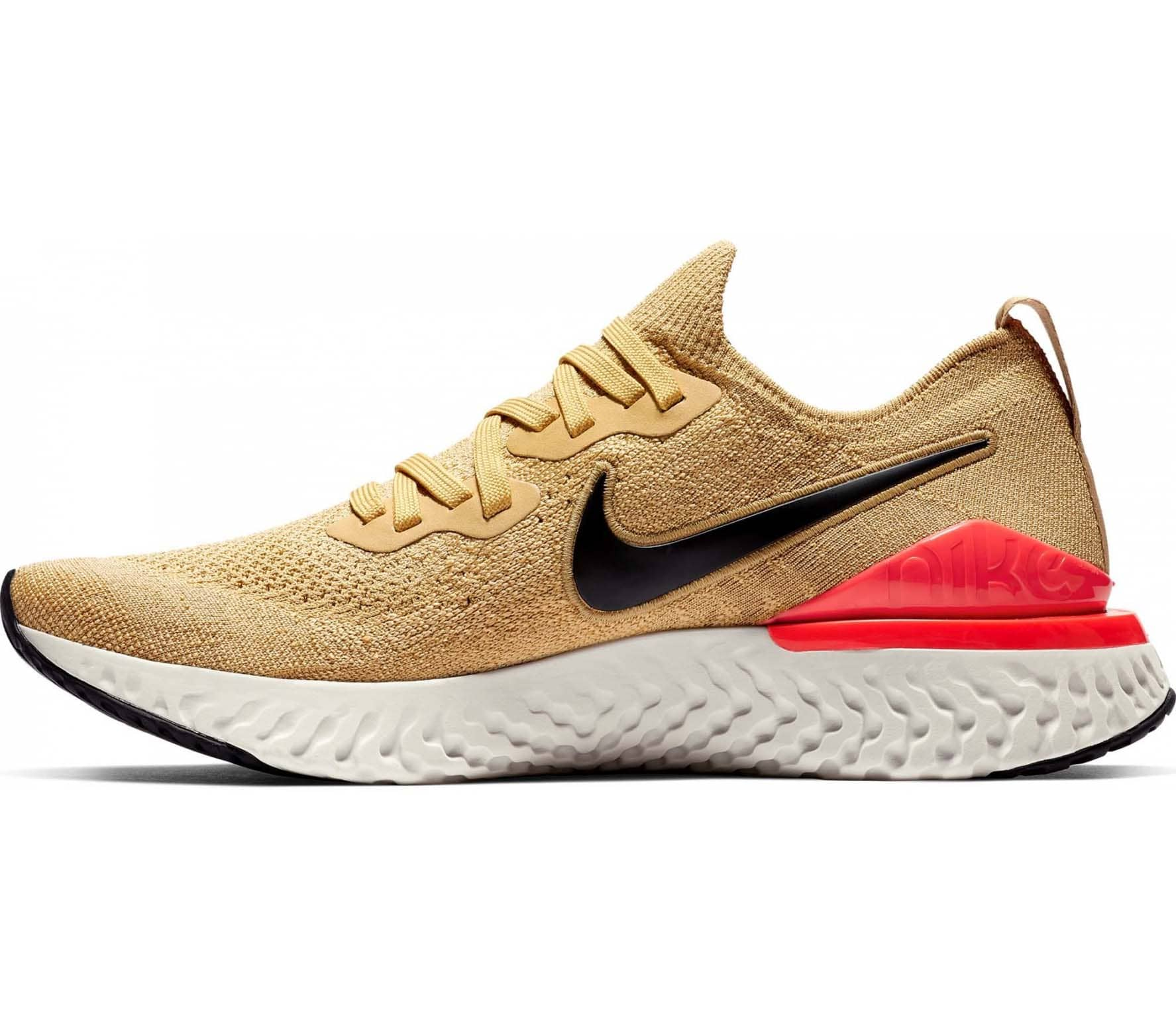 Nike - Epic React Flyknit 2 Hommes chaussure de course (or/Orange)