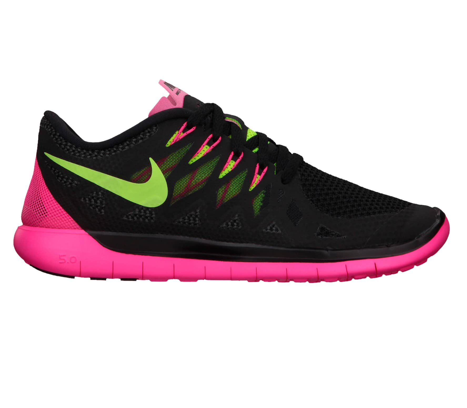 finest selection 24355 8be13 Nike - Free 5.0 women s running shoes (black pink green)