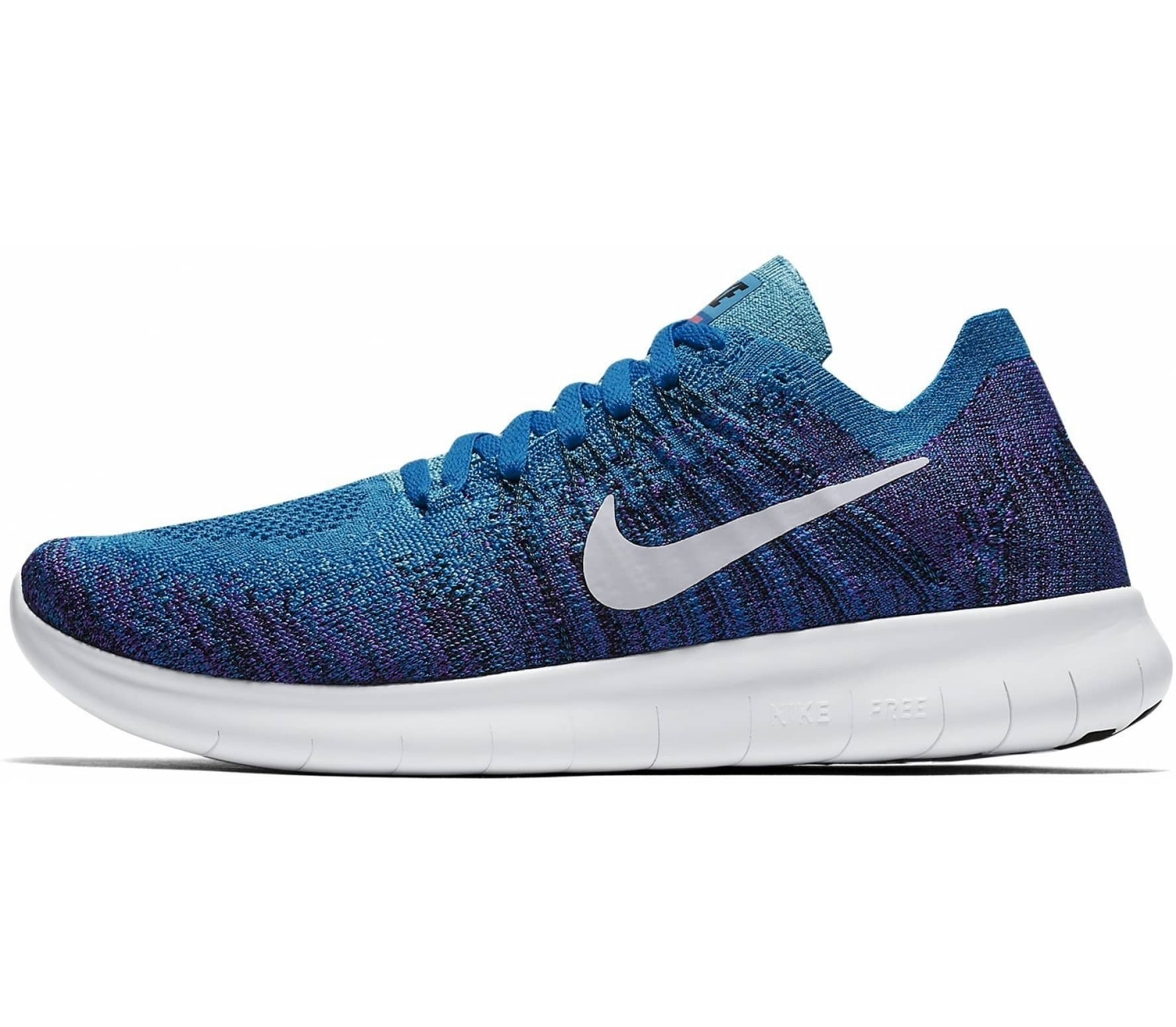 official photos fa5bf 2dc55 Nike - Free RN Flyknit 2 (GS) Children running shoes (blue)