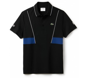 Lacoste - shorts Sleeved Ribbed Collar men's tennis polo top (black/blue)