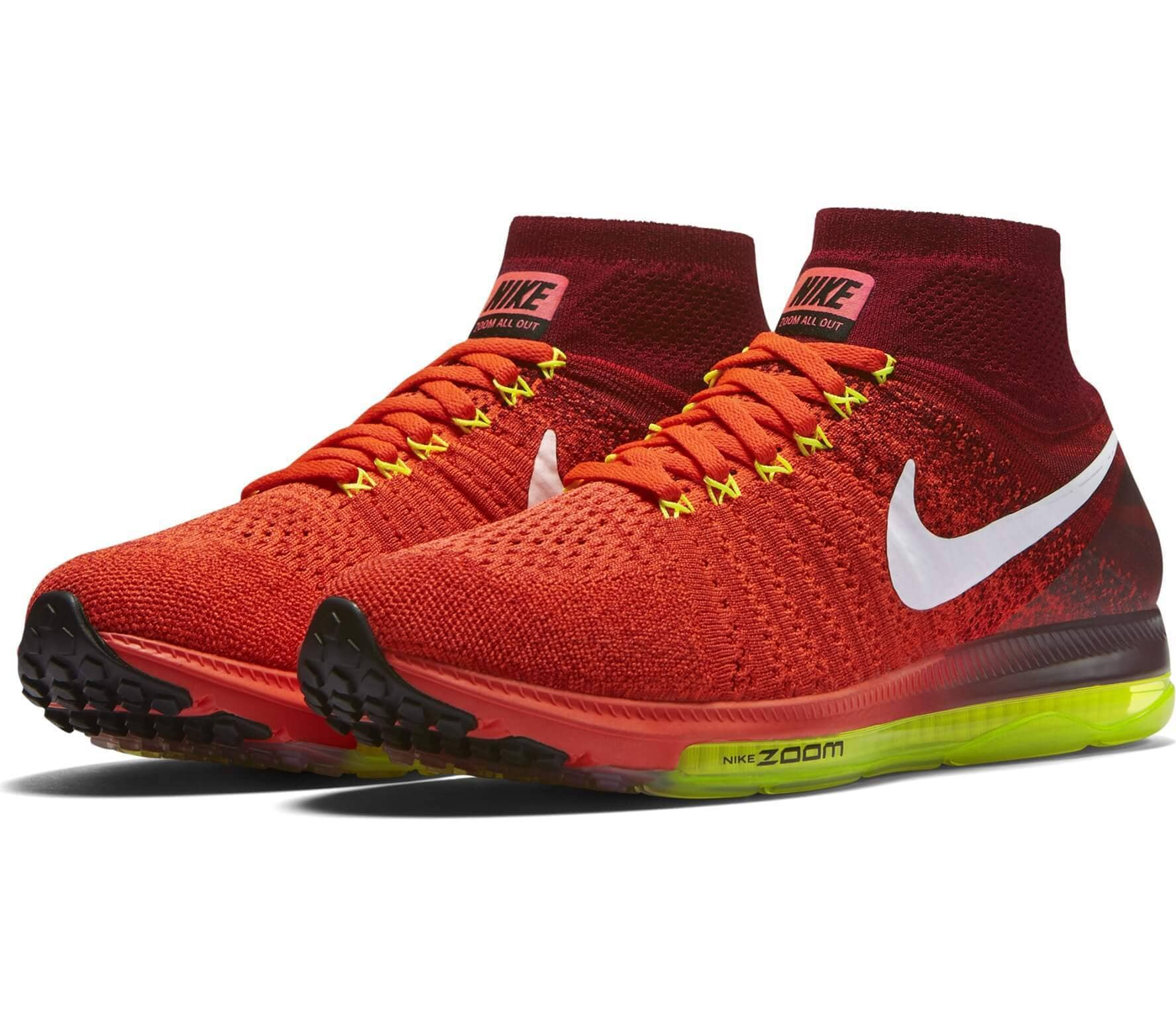 half off 48a43 7a206 ... official nike zoom all out flyknit womens running shoes orange white  0d9e1 9de4f