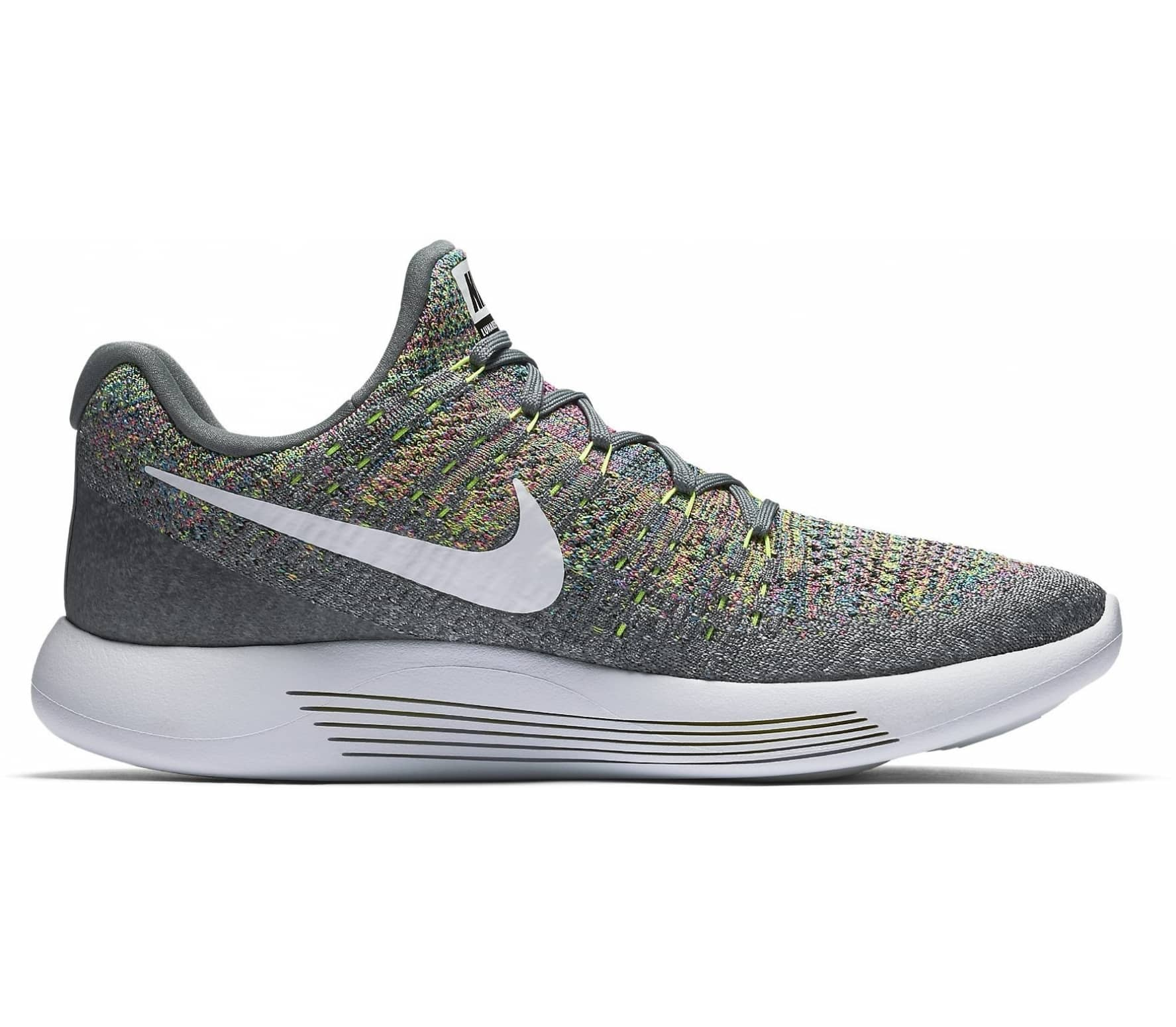 sports shoes 11676 fddba ... release date nike lunarepic low flyknit 2 hommes chaussure de course  gris jaune 8f8f3 ed1af