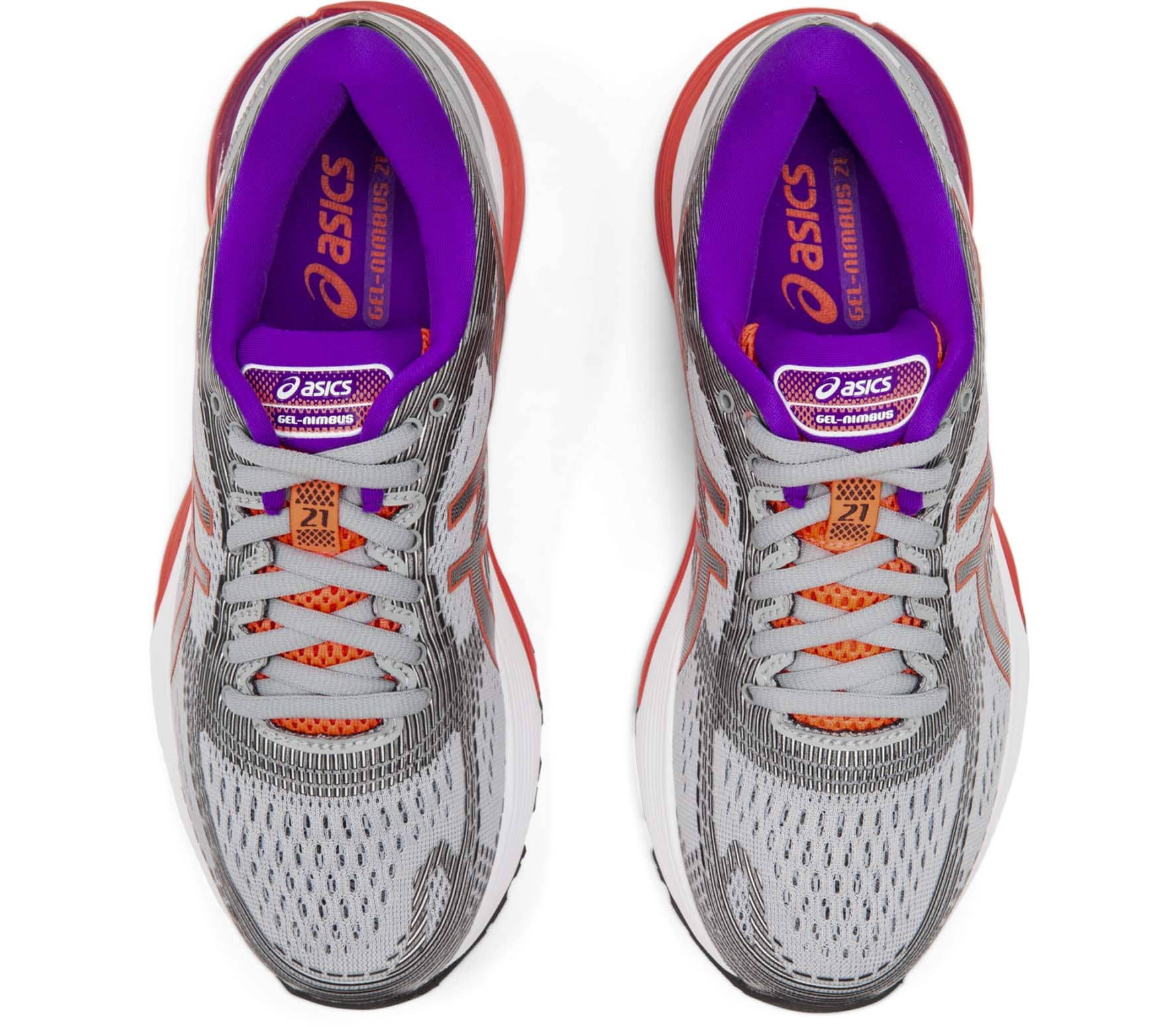 ASICS Gel-Nimbus 21 Women Running Shoes  grey