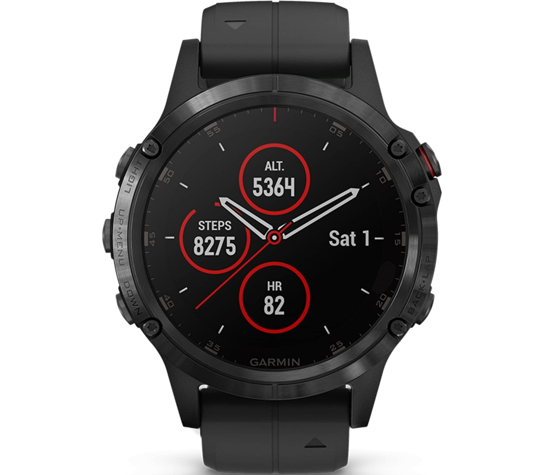 Garmin - Fenix 5 Plus Saphir Edition multisports watch (black)