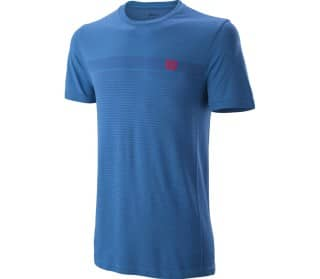 Competition Seamless Crew Men Tennis Top