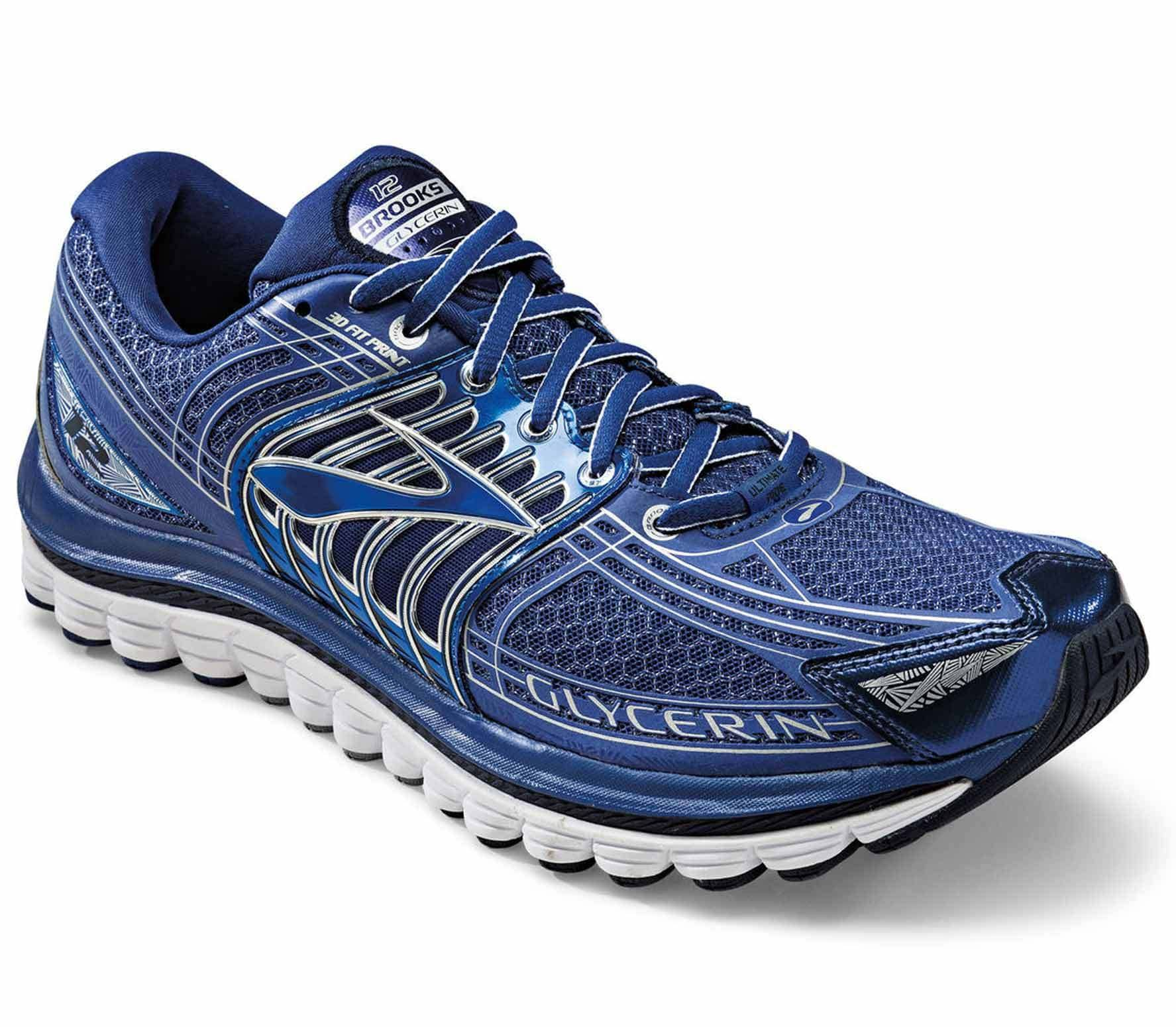 c2e5ac9365f17 Brooks - Glycerin 12 men s running shoes (blue silver) - buy it at ...