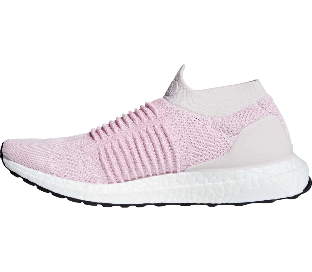 a94ae20386889 adidas - Ultraboost Laceless women s running shoes (pink white ...