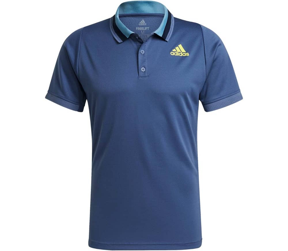 ADIDAS Freelift Primeblue Men Tennis Polo Shirt (blue yellow) 62,90 €