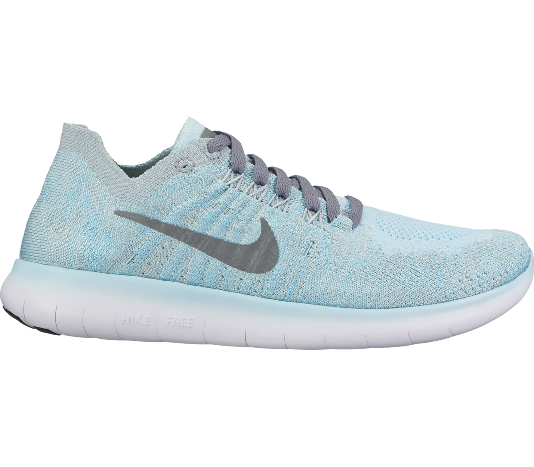 44dc524eed6 Nike - Free RN Flyknit 2 (GS) Children running shoes (blue grey ...