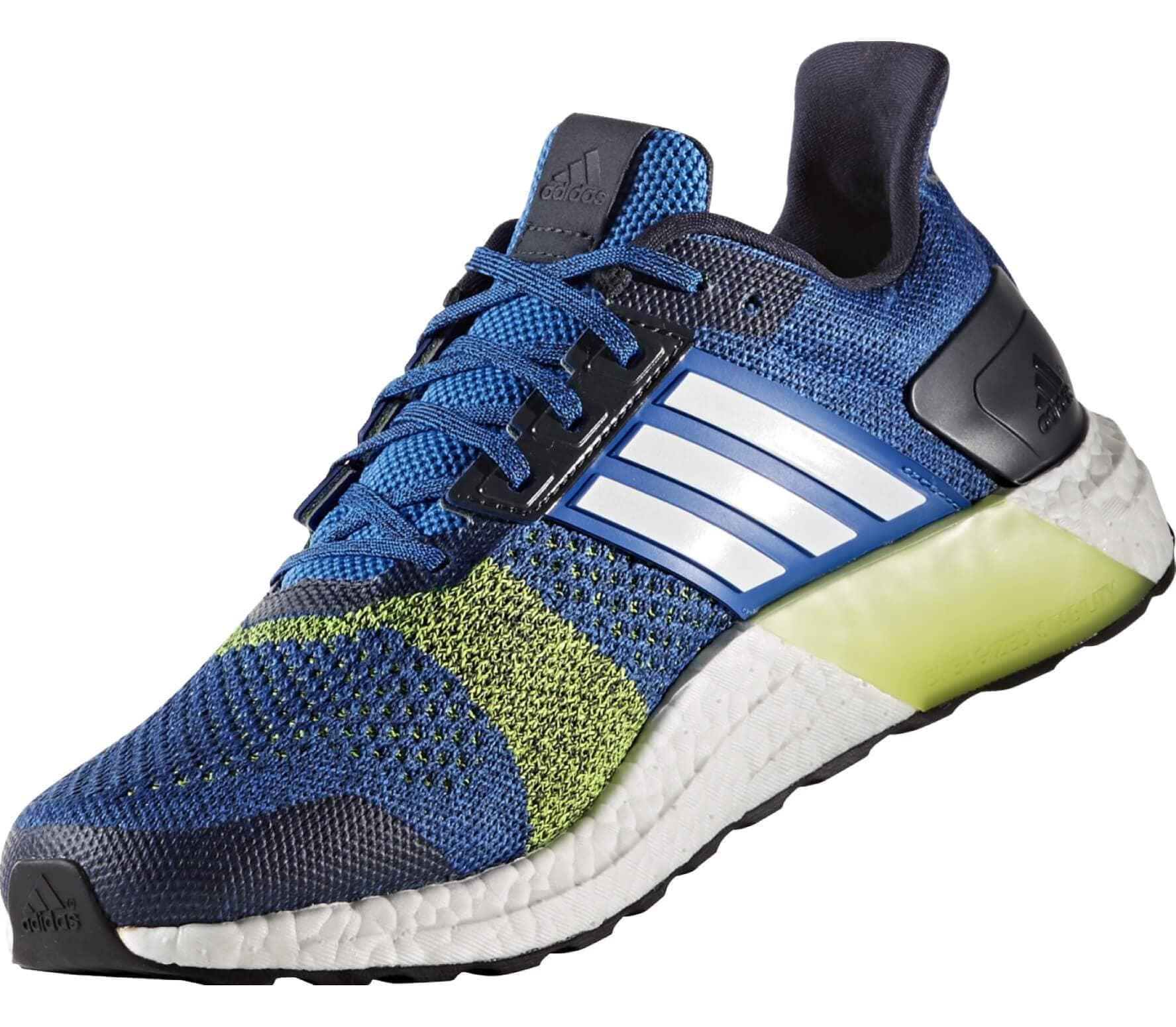 Adidas - Ultra Boost ST men's running shoes (blue/yellow