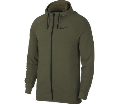 Nike - Dry Hombre Trainingshoodie (verde oscuro)