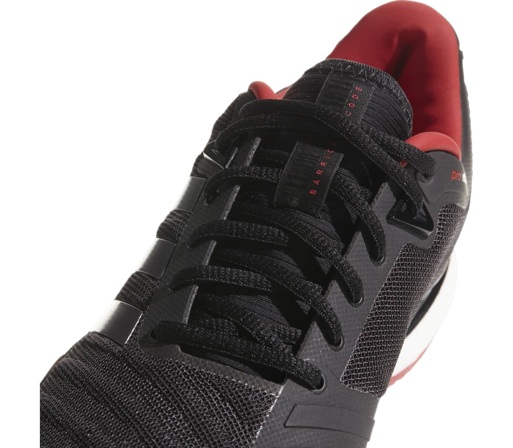 hot sale online e5069 f9d19 Adidas - Barricade 2018 Boost men s tennis shoes (black red)