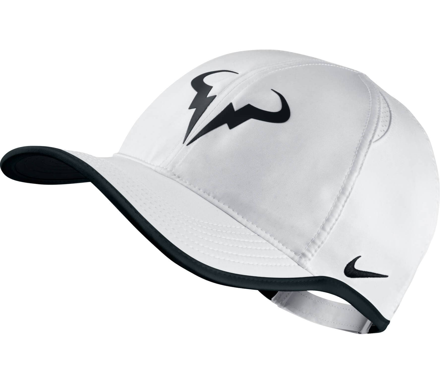 Nike - Rafa Nadal Featherlight tennis cap (white black) - buy it at ... 1efdefb8ead
