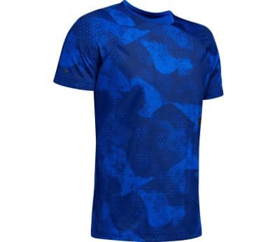 Under Armour Rush Hommes Haut training bleu