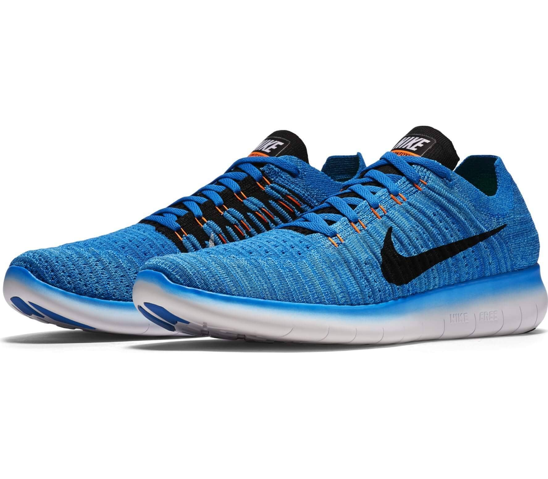 nike free fly knit herren laufschuh blau im online. Black Bedroom Furniture Sets. Home Design Ideas