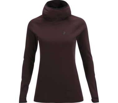 Peak Performance - Power Damen Hoodie (dunkelrot)
