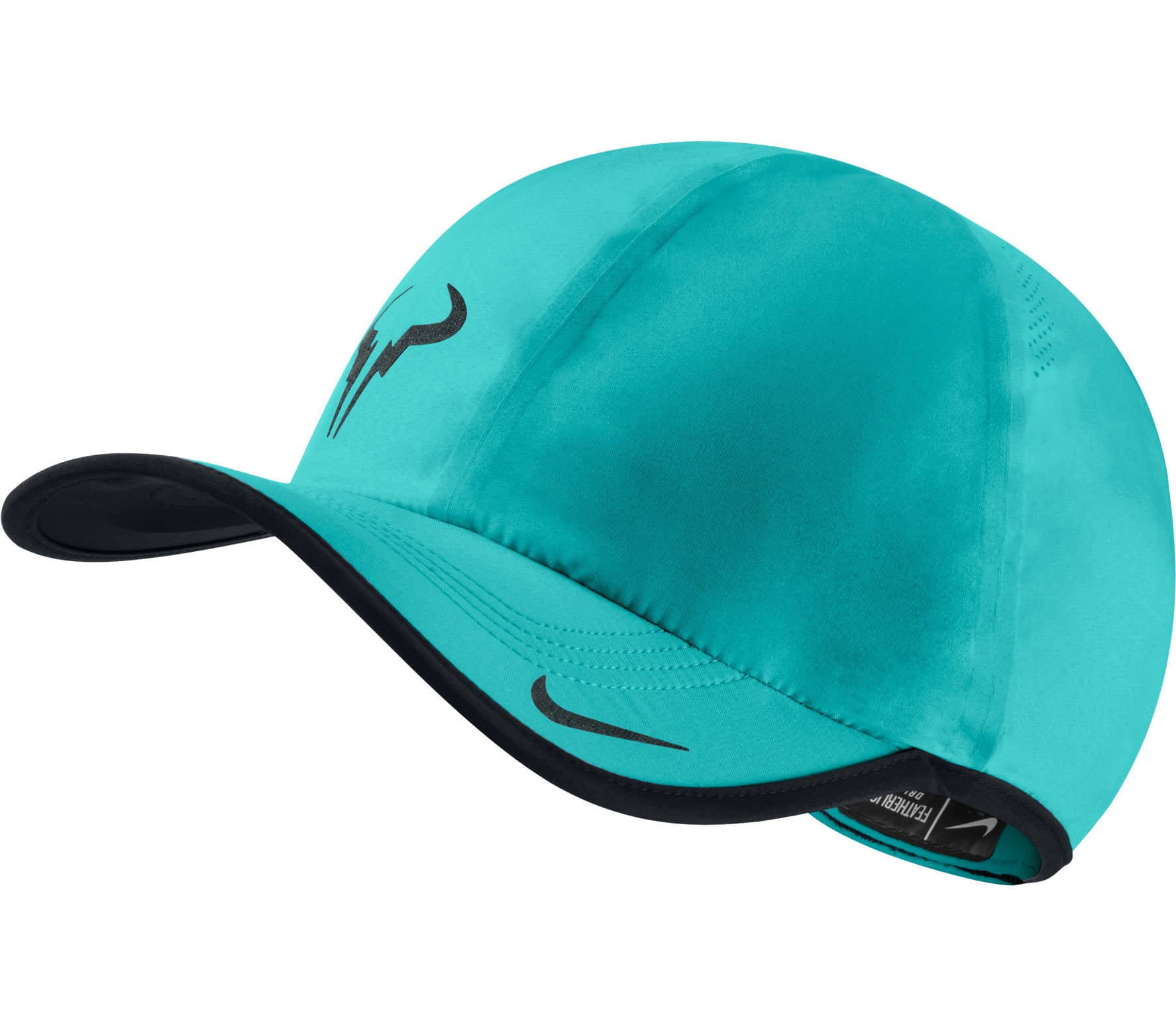 a54d02a72ae31 Nike - Rafael Nadal Bull Featherlight cap (turquoise) - buy it at ...