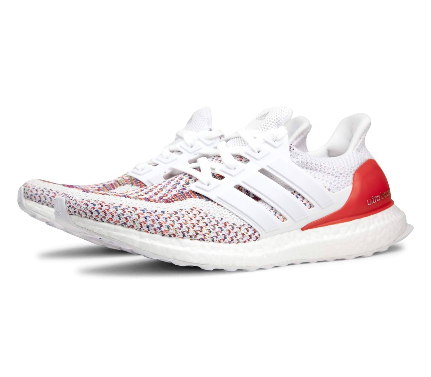 Adidas - Ultra Boost chaussures de running pour hommes (blanc/rouge)