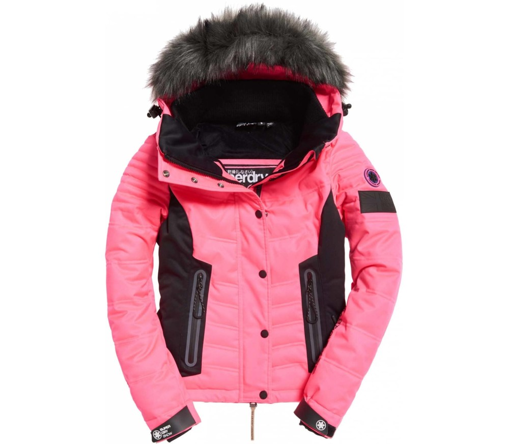 Superdry - Luxe Snow women's skis jacket (pink)