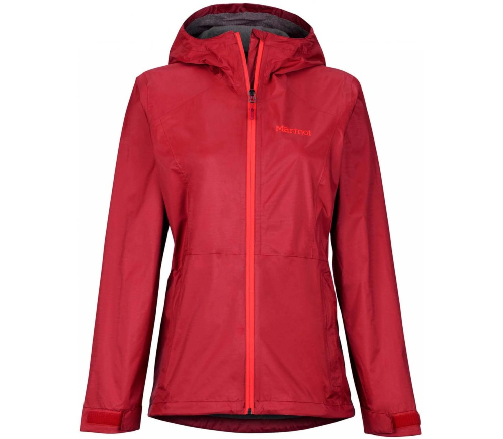 Marmot PreCip Eco Plus Women Rain Jacket red