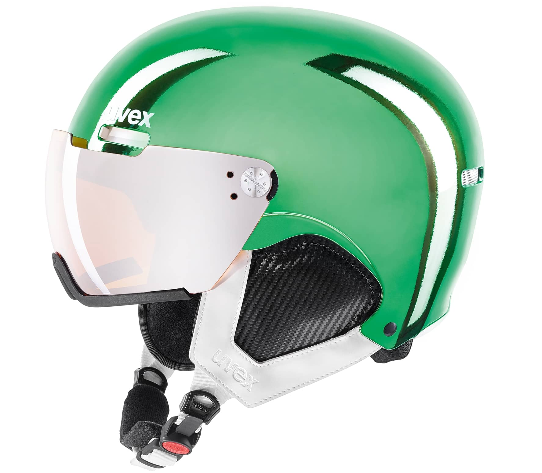 Uvex - Hlmt 500 Visor Chrome Ltd casque de ski (vert)