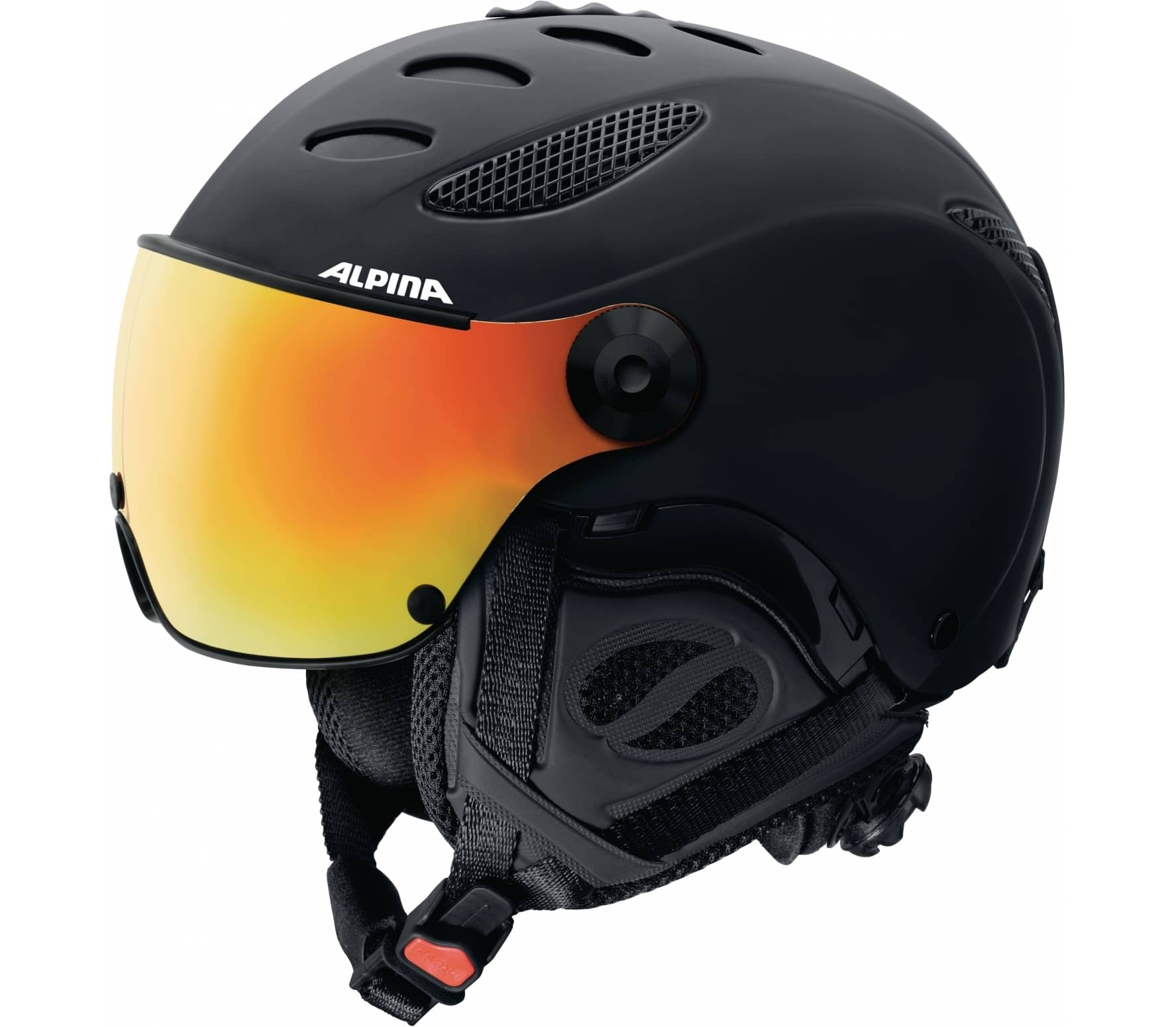 Alpina Jump JV QVMM Unisex Skis Helmet Black Buy It At The - Alpina helmets