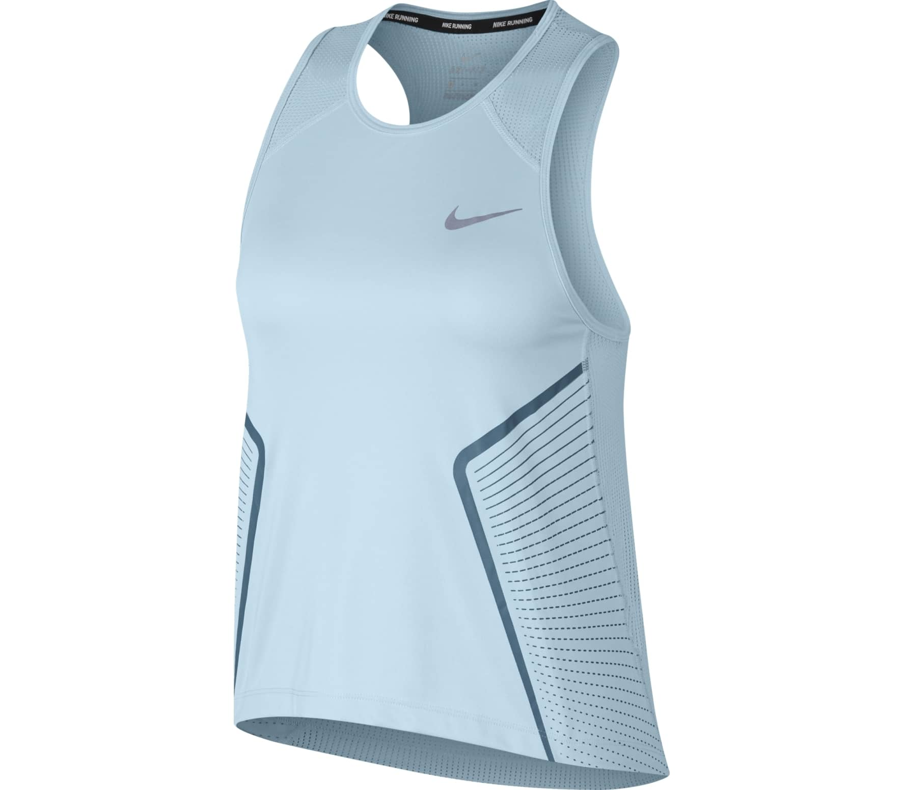 2ad7bc2a42621 Nike - Dry Miler women s running top (light blue) - buy it at the ...