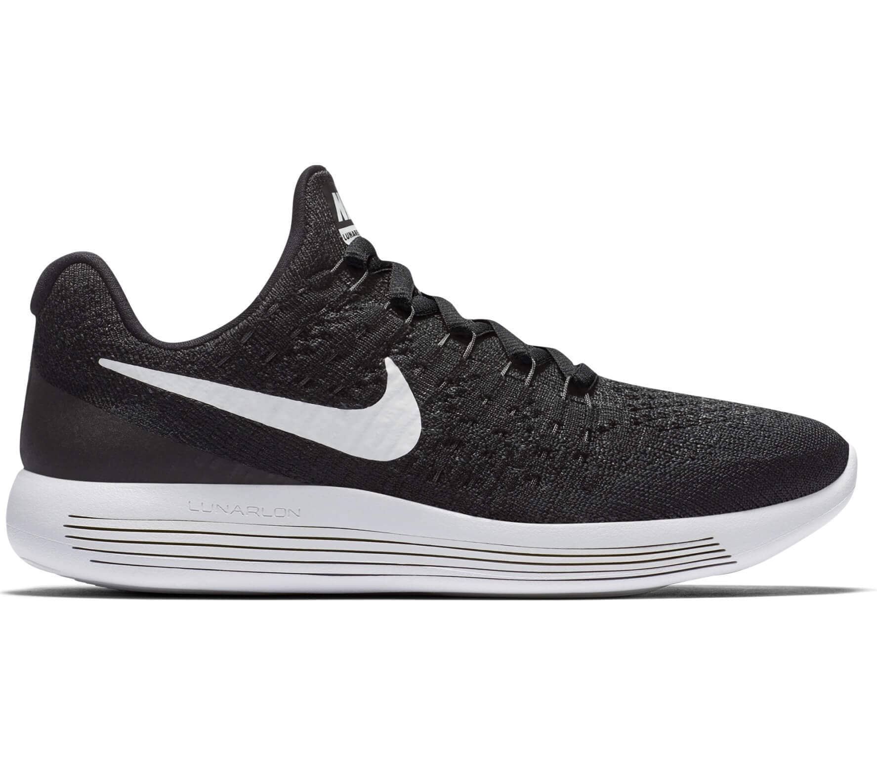 4bc69ff0aff2b Nike - Lunar Epic Low Flyknit 2 (GS) children s running shoes (black ...