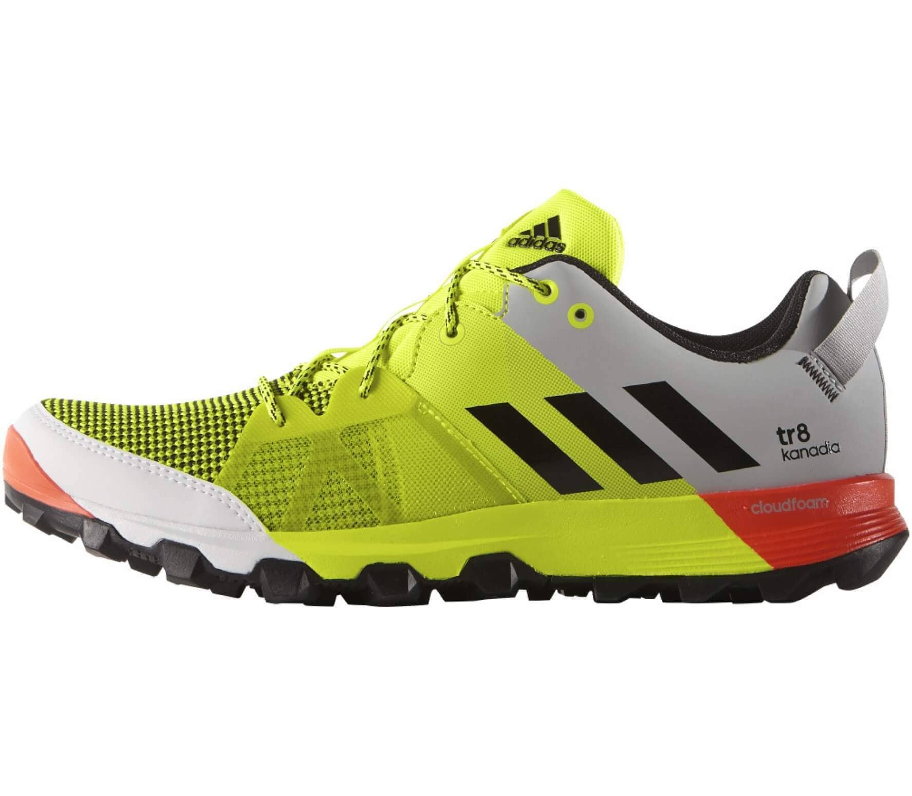 sale retailer fd811 ca0ef Adidas - Kanadia 8 TR men s running shoes (yellow grey)