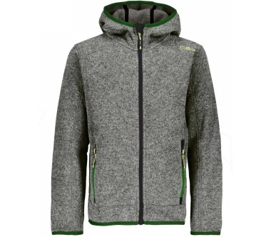CMP Fix Hood Junior Strick Bambino Giacca in pile argento