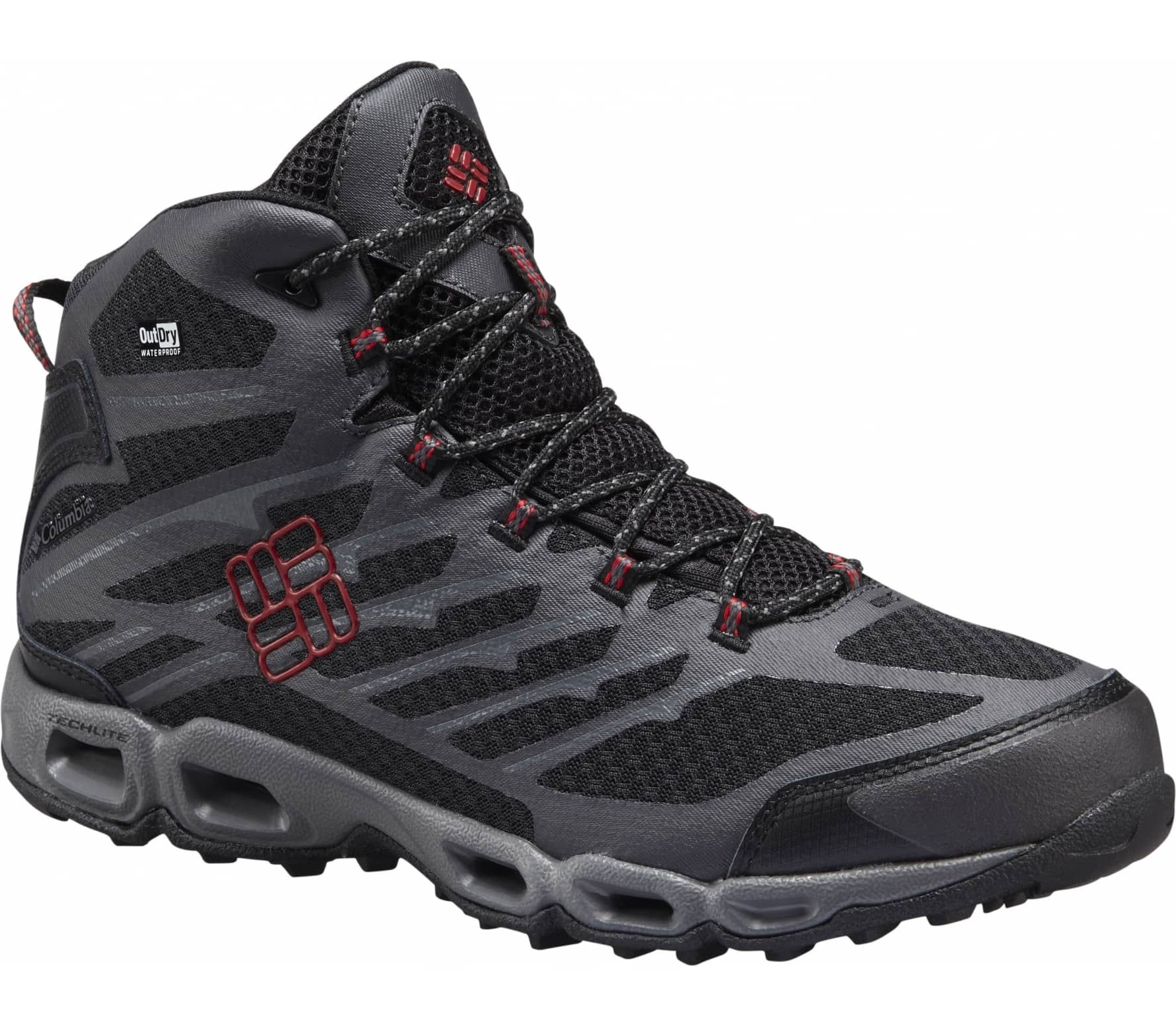 04ff25815334 Columbia - Ventrailia II Mid Outdry men s hiking shoes (black red ...