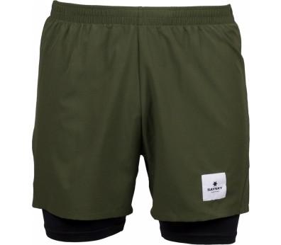 Saysky - 2 in 1 Shorts Laufshort (olivgrün)