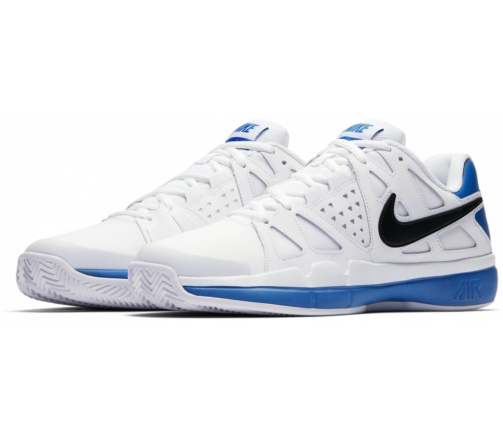 Blue Tennis Shoes With White And Grey Sole
