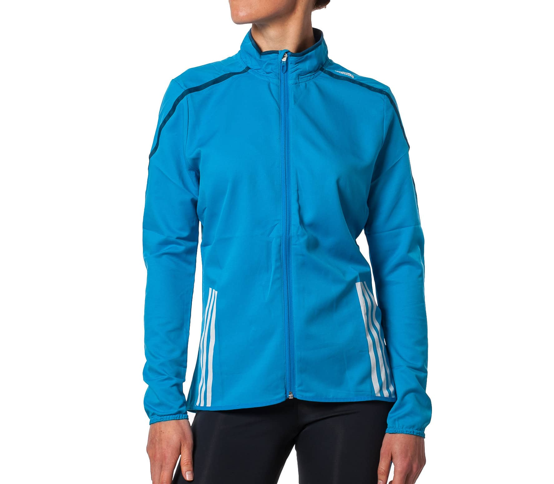 adidas adizero slim track jacket damen blau im online shop von keller sports kaufen. Black Bedroom Furniture Sets. Home Design Ideas