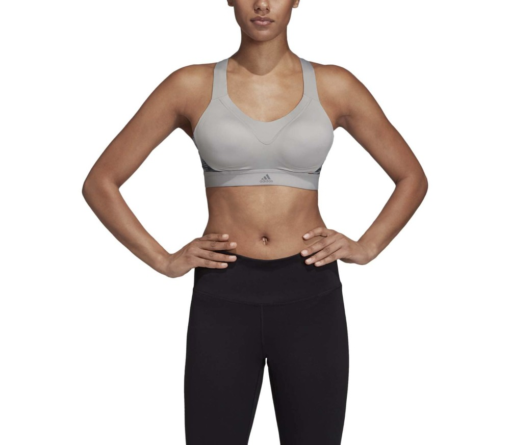 adidas Stronger For It Iteration Women Sports Bra grey