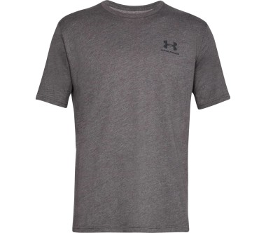Under Armour - Sportstyle Left Chest Herren Trainingsshirt (grau)